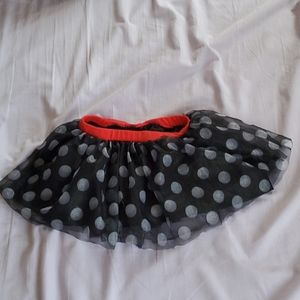 2T Disney Minnie mouse polka dot tutu tulle skirt